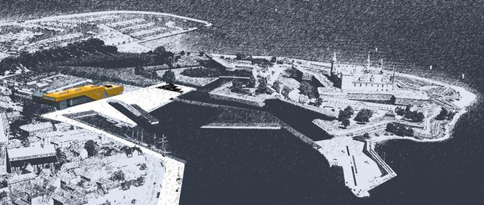 Helsing¿r Statshavn og Kronborg Slot Foto: Arne Magnussen